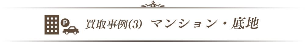 買取事例(3) マンション・底地